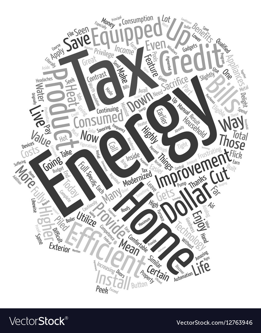 Home Energy Efficiency Improvement Tax text