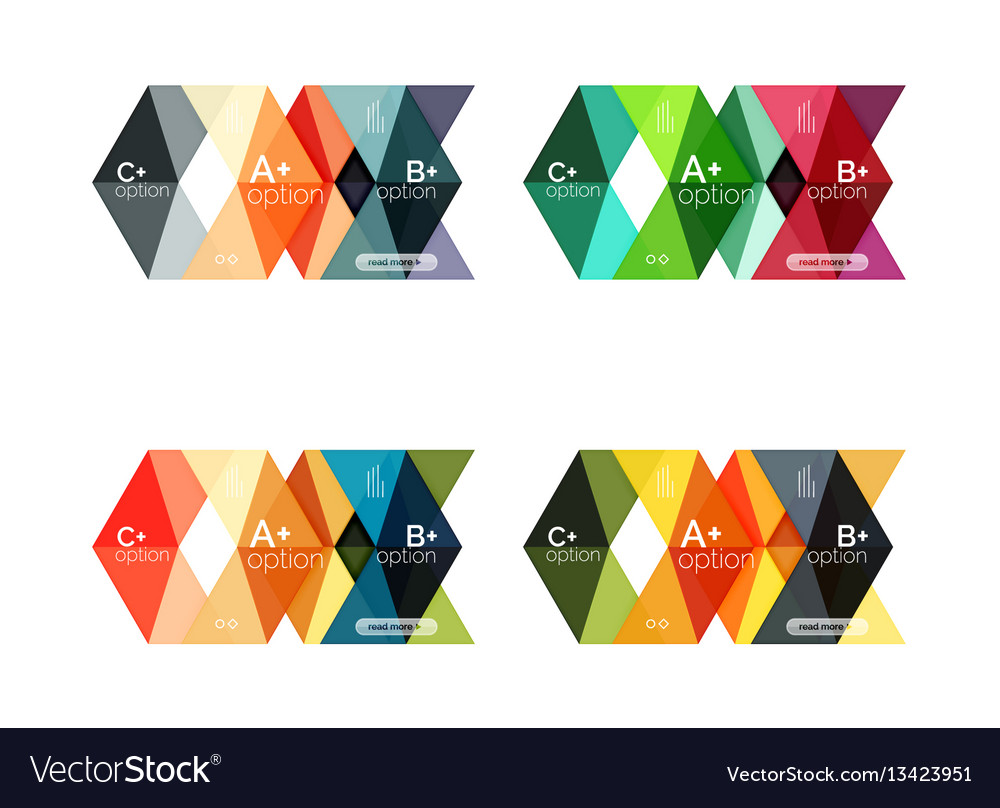 Arrow option infographic templates set vector image