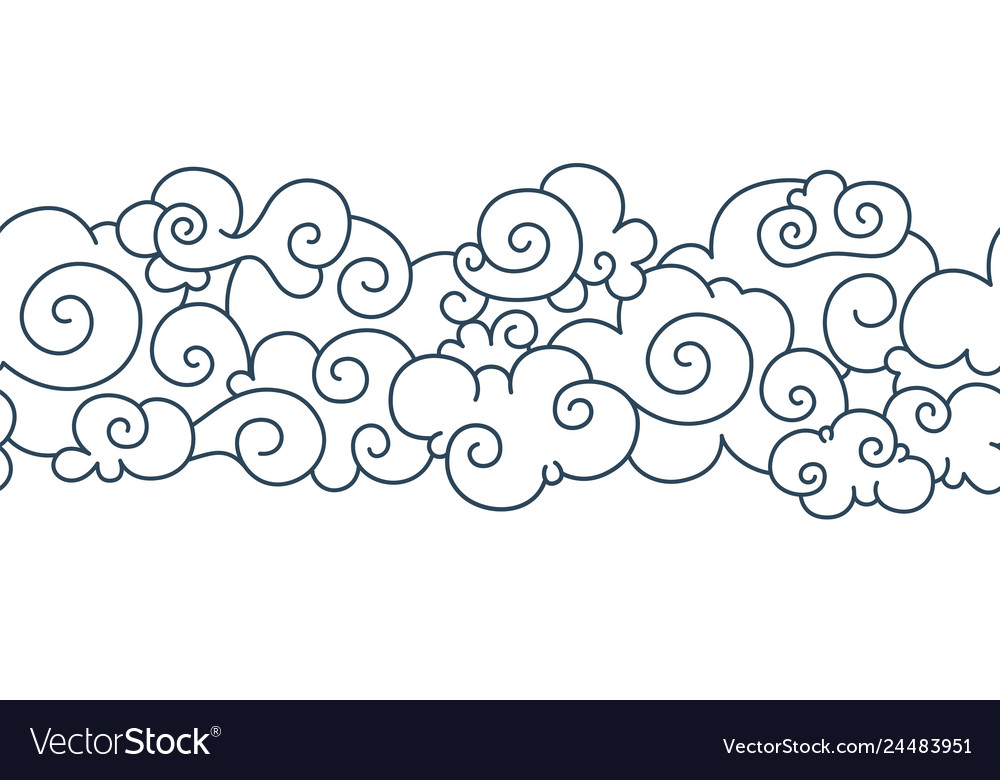 8a3a60fc548e0 Asian cloud pattern chinese japanese oriental Vector Image
