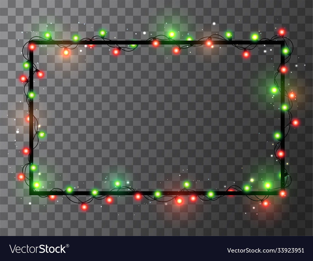 Christmas Lights Border Royalty Free Vector Image Download transparent christmas lights border png for free on pngkey.com. vectorstock