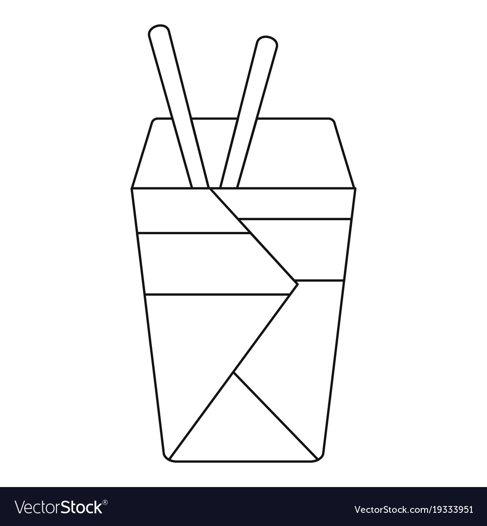 Noodle icon outline style vector image