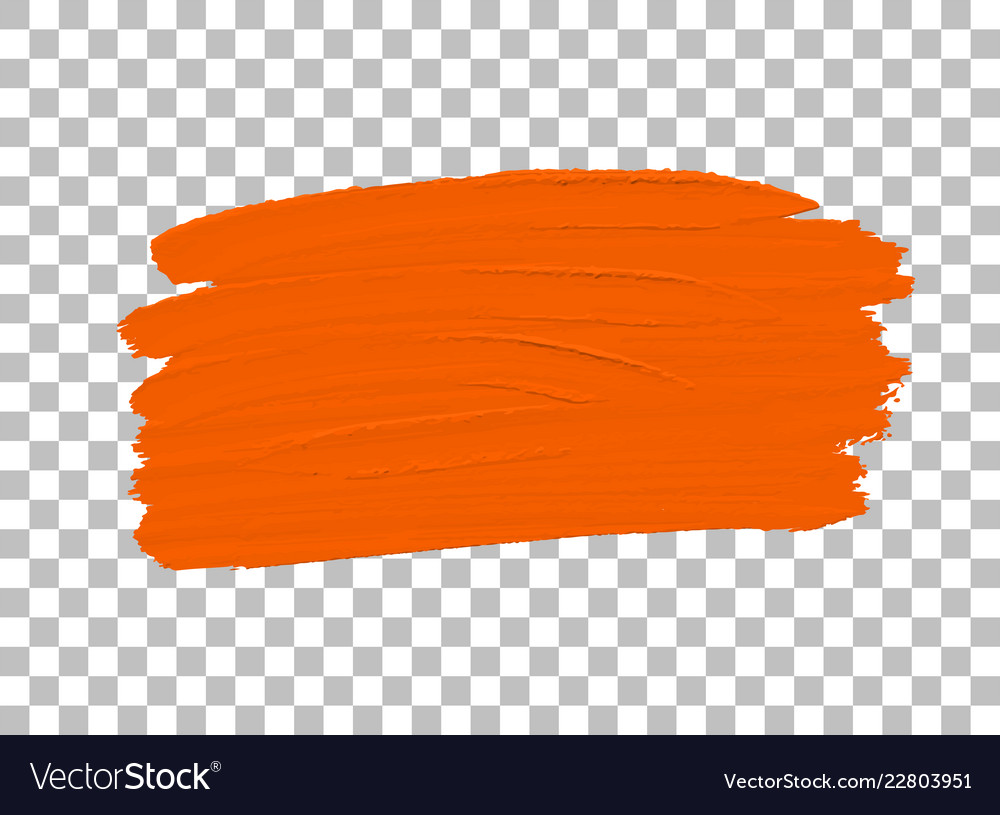 Orange Colour Paint Brush Vector Image