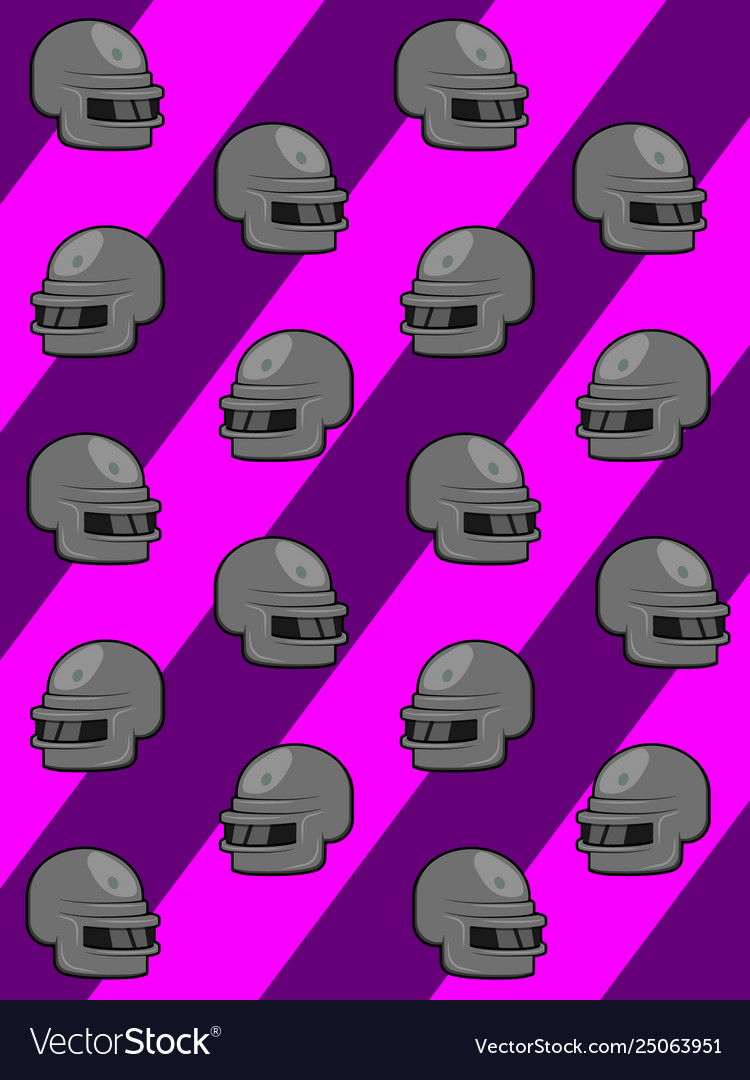 Pink background with game helmet