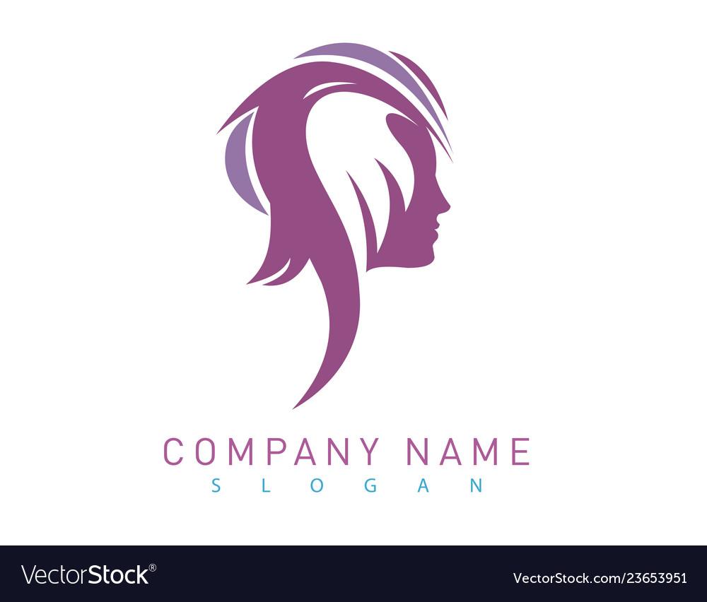 Profile woman logo
