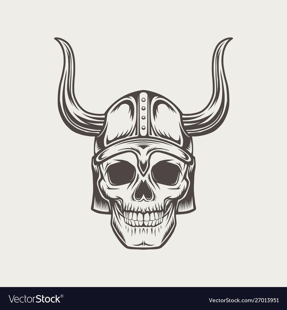 Scull in horned helmet