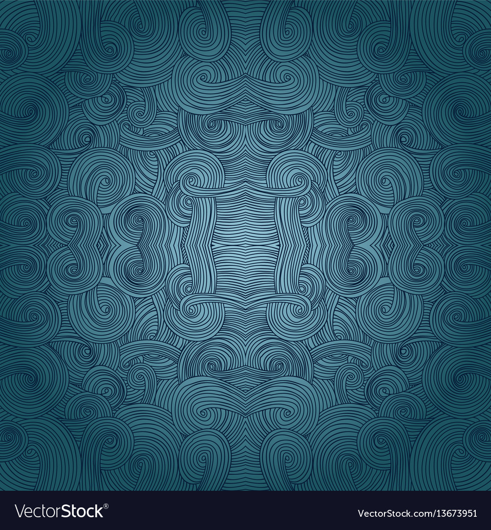 Seamless hand-drawn pattern waves background