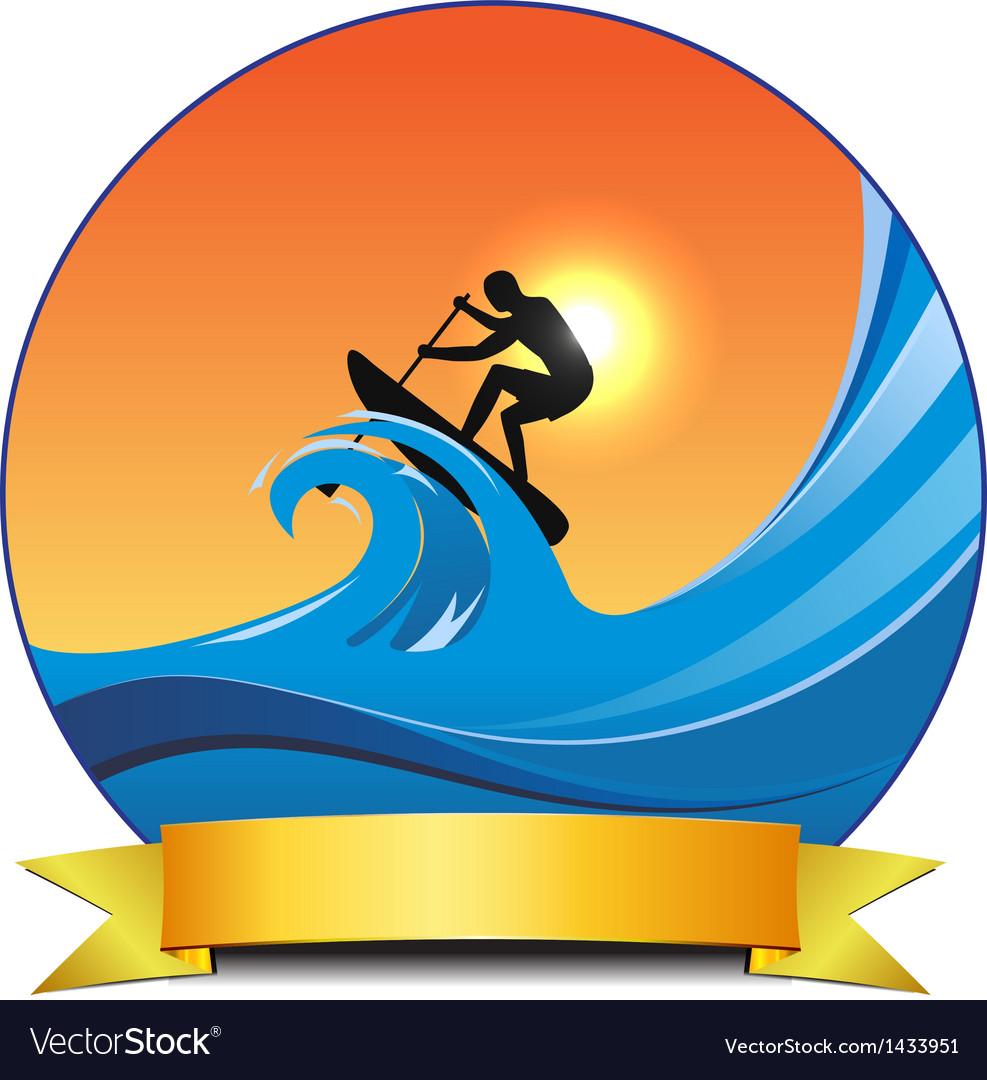 Surf paddling