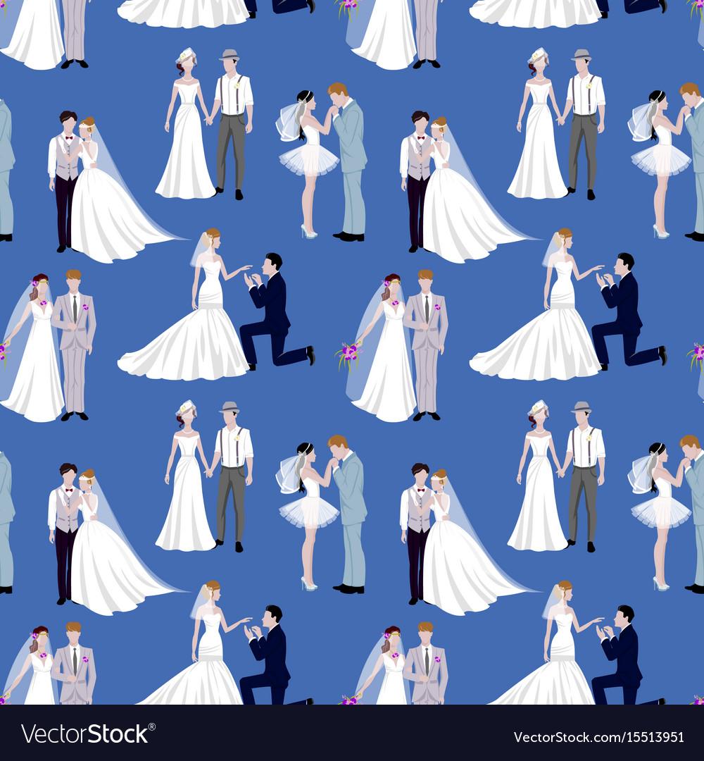 Wedding ceremony groom and bride couple people