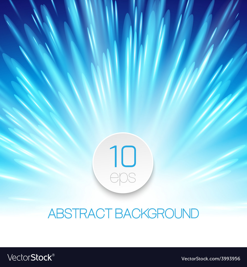 Background with glowing rays vector image
