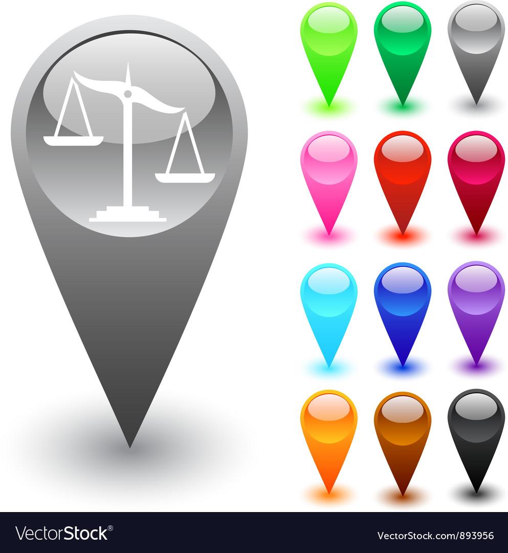 Balance button vector image