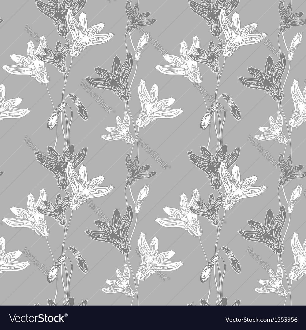 Cornflower pattern grey