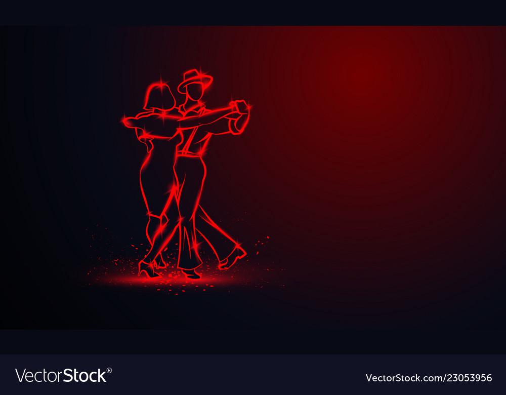 Couple dancing foxtrot
