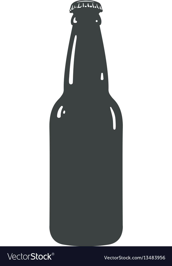 craft beer bottle template vintage brewery bottles rh vectorstock com beer bottle vector png beer bottle vector free download