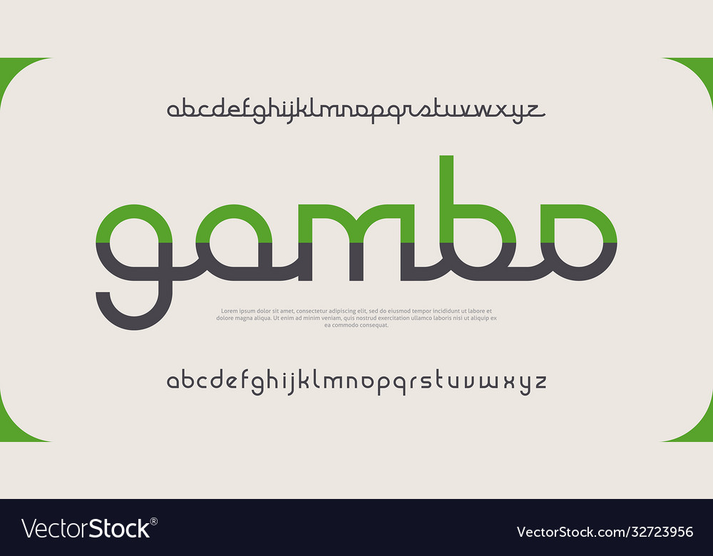 Elegant minimal font modern typeface