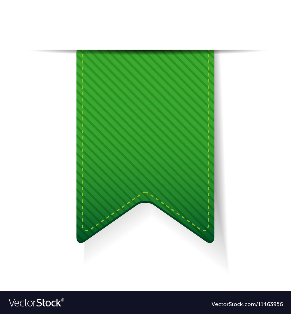 Empty green ribbon isolated vector image