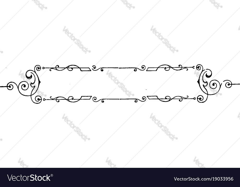 Simple And Designer Border Vector Image