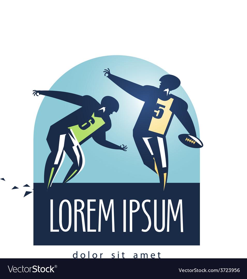 Football logo design template sports or
