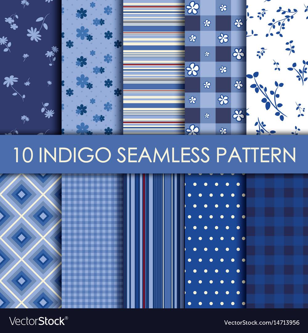 Indigo collection background vector image