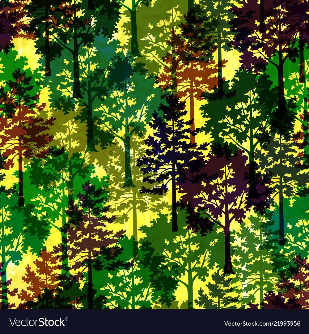 Trees seamless background