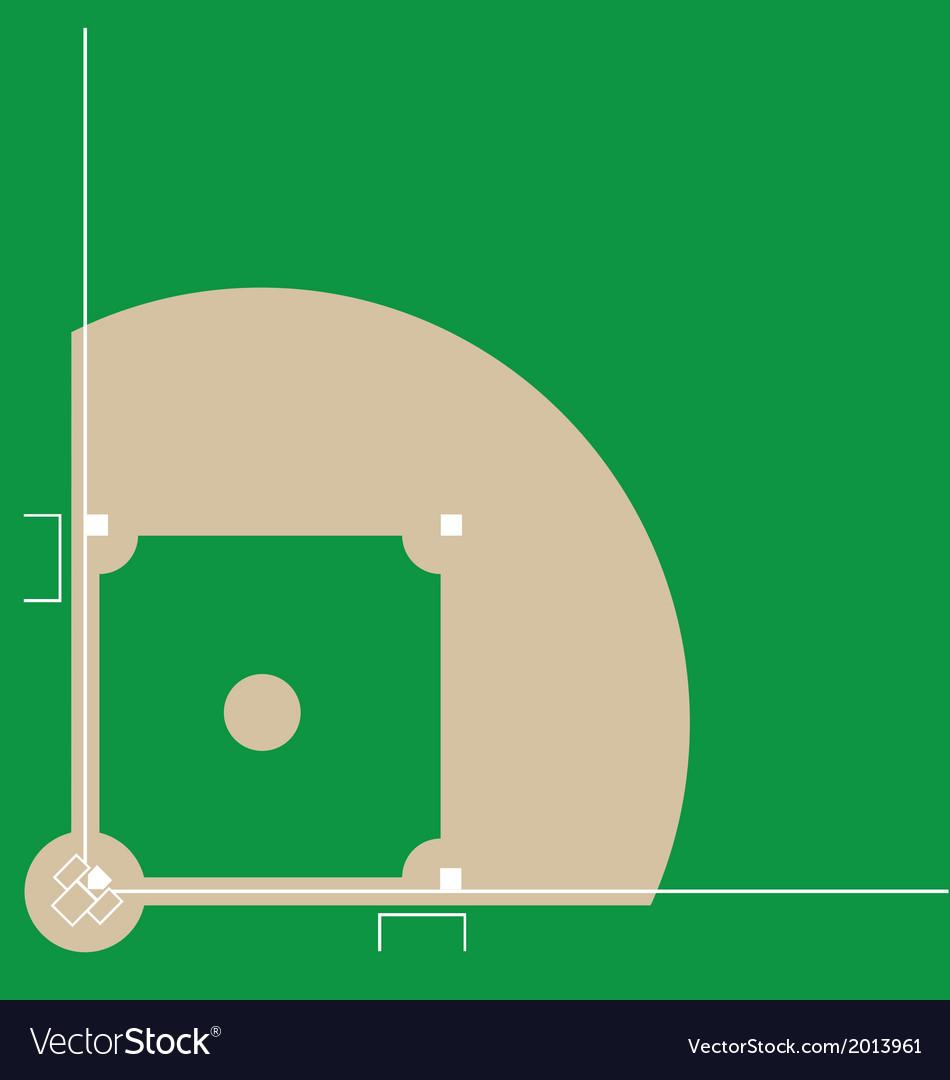Baseball diamond vector image