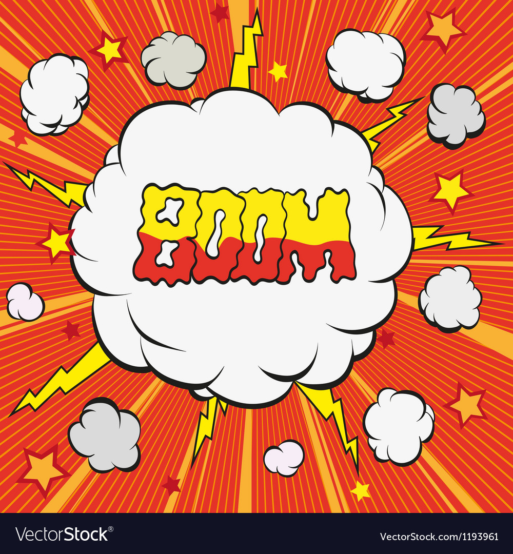 Cartoon explosion vector image