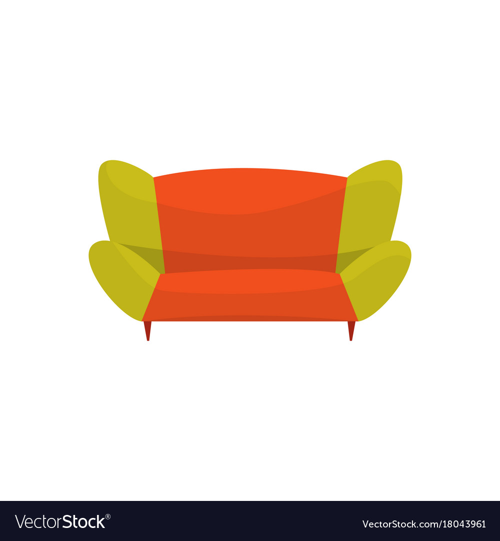 Colorful modern sofa living room or office vector image