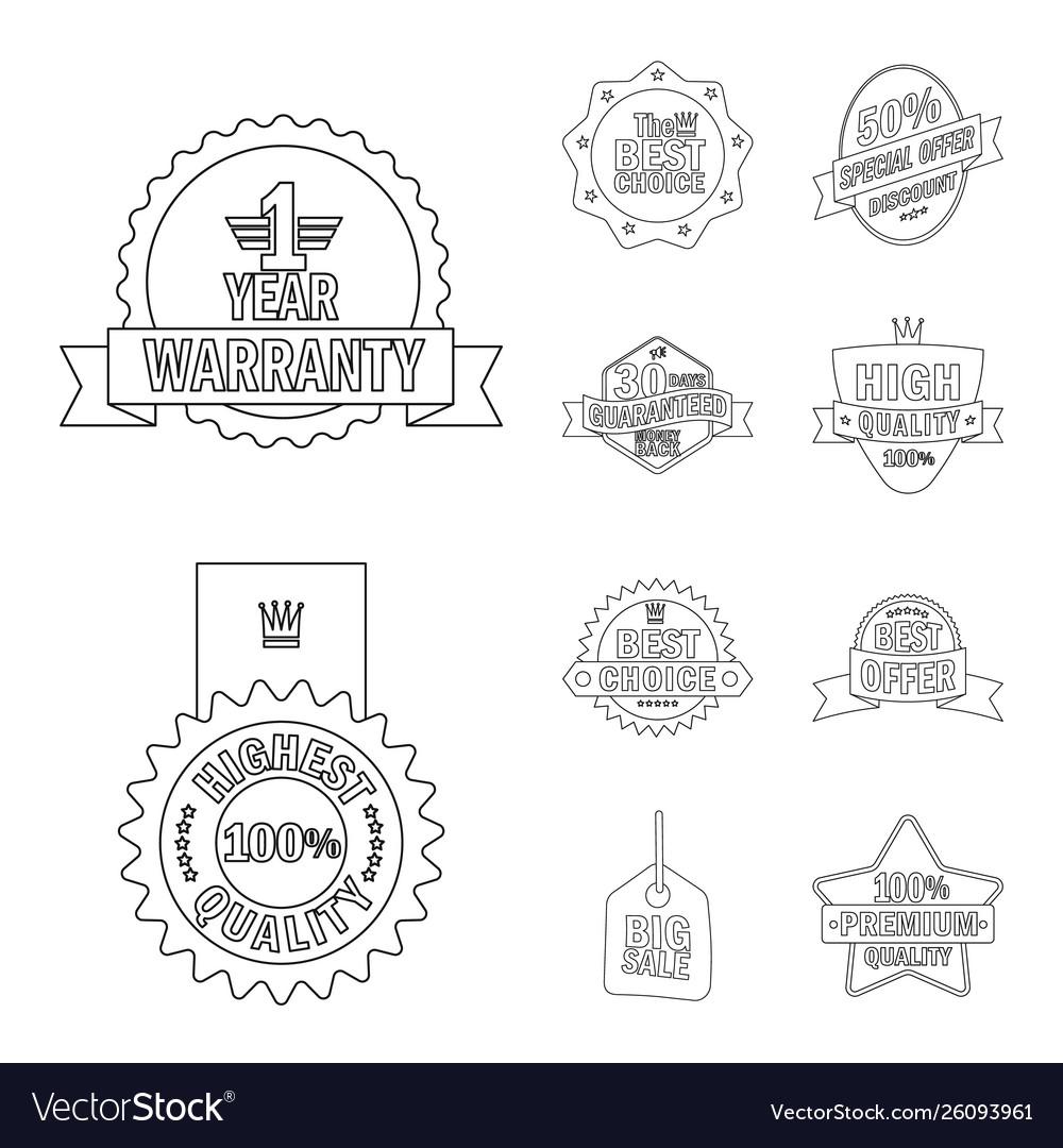 Emblem and badge logo set