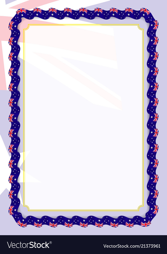 Frame and border of ribbon with australia flag Vector Image