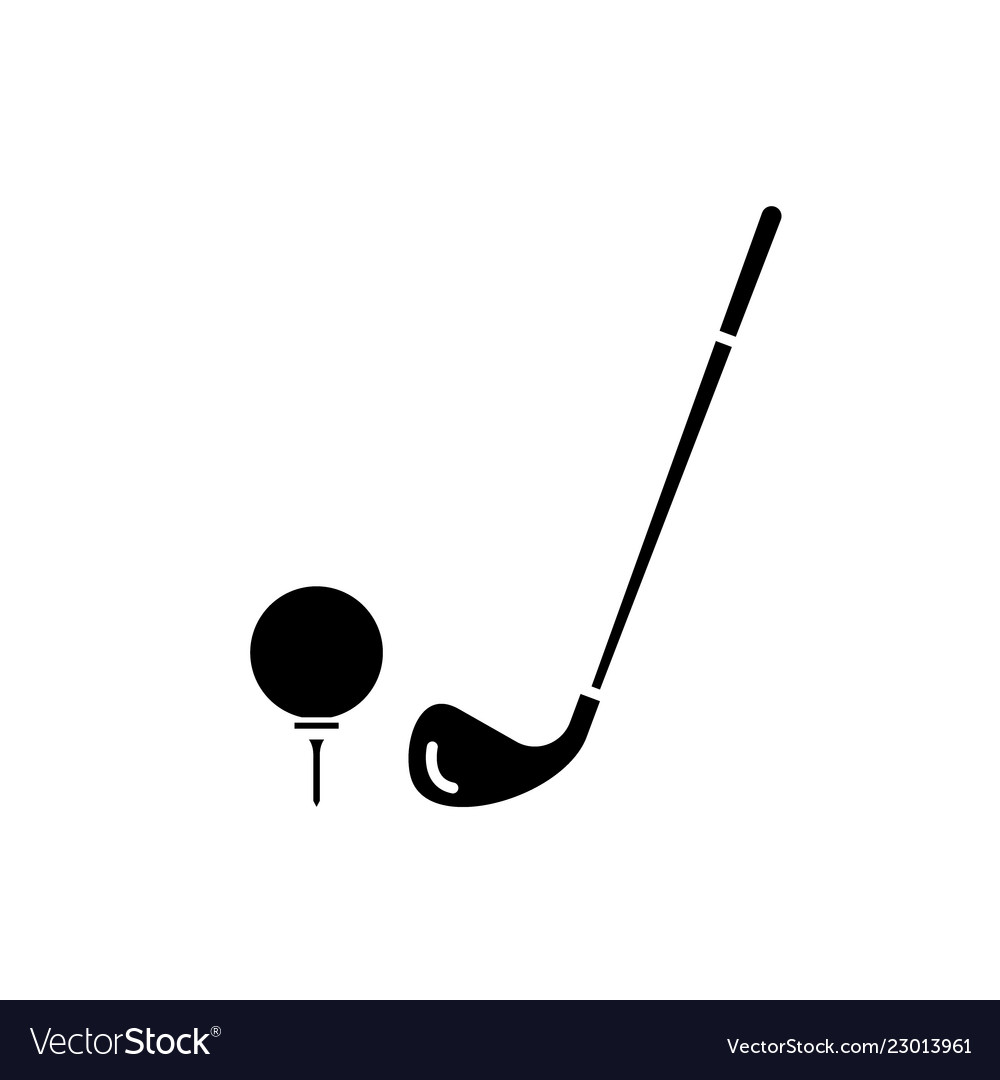 Golf Club Black Icon Sign On Isolated Royalty Free Vector