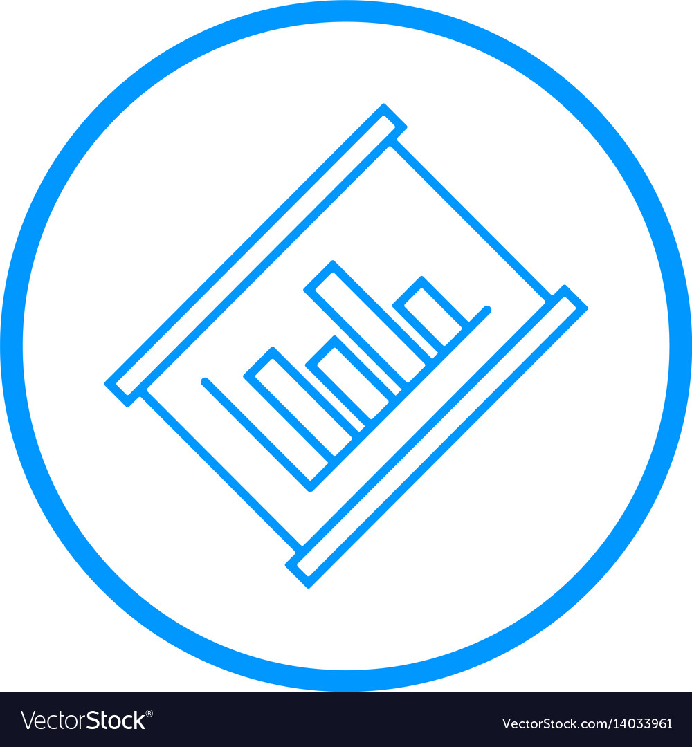 Graphic chart line icon vector image