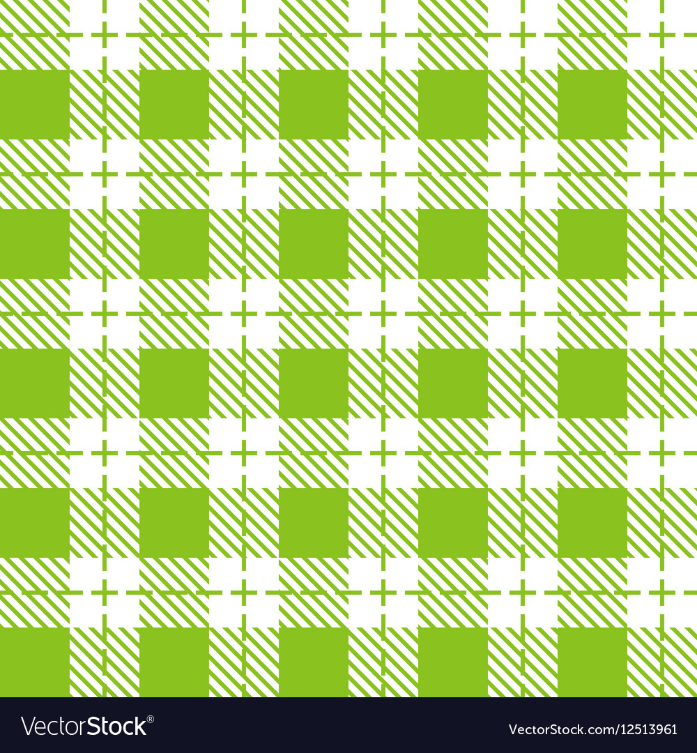 Green and white tablecloth seamless pattern