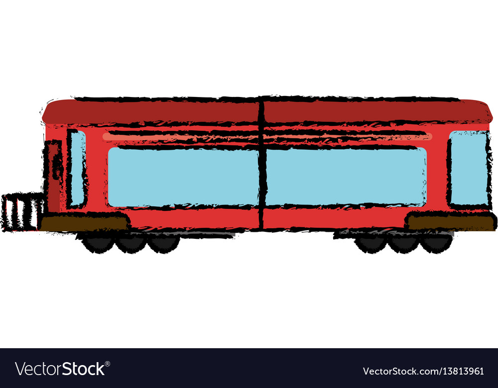 Locomotive train transport business vector image