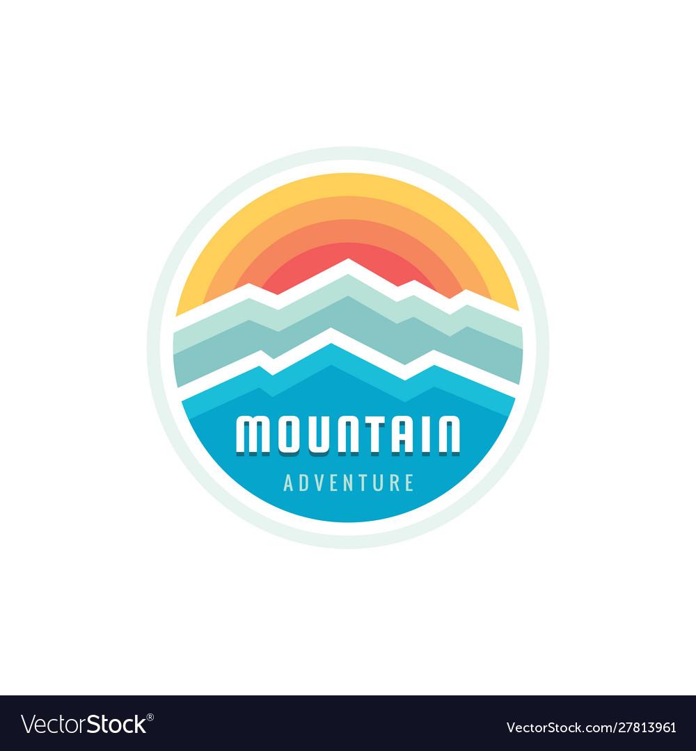 Mountain adventure outdoors - concept logo