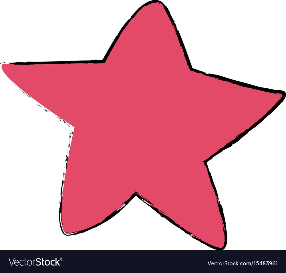 Pink star fish sea animal wild icon