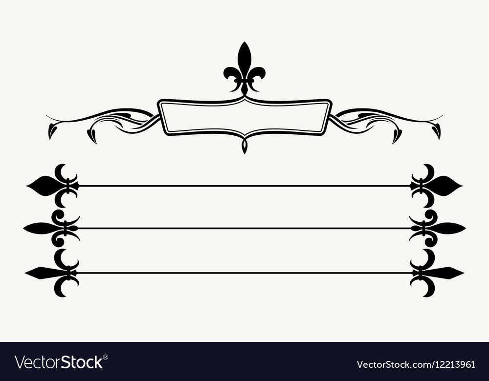 Set of fleur de lys design elements vector image