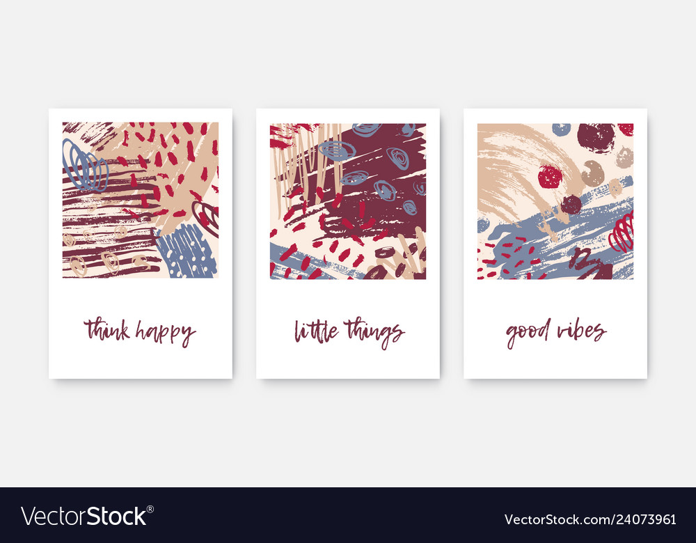 Set of modern decorative card templates with