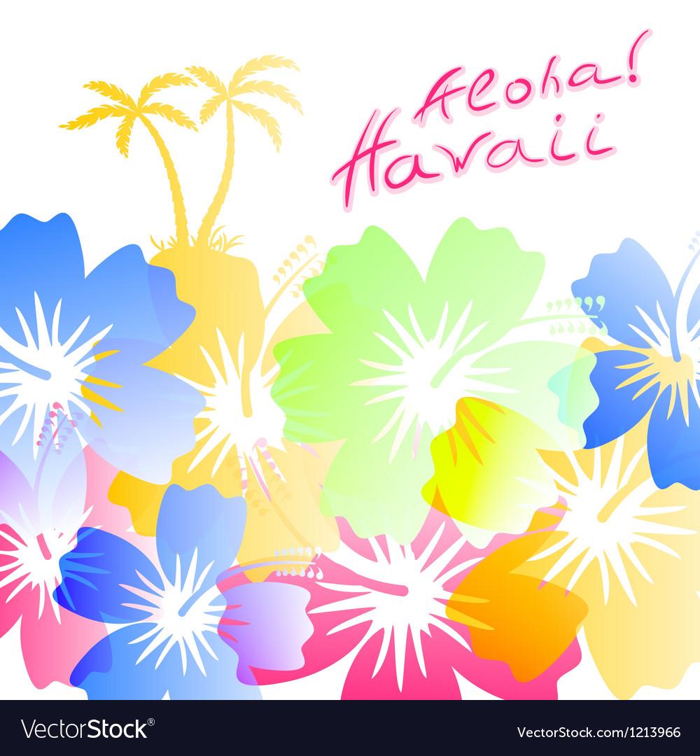aloha hawaii background royalty free vector image