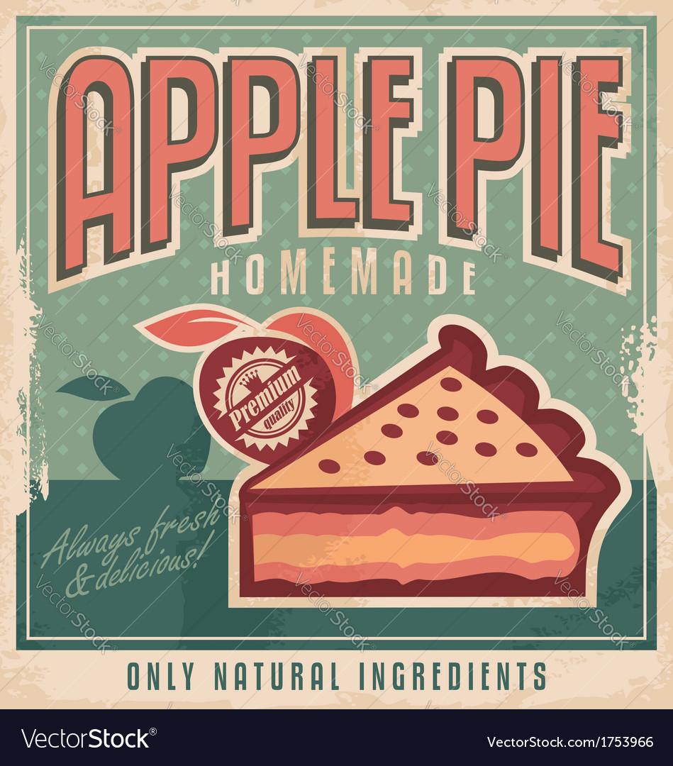 Apple pie vintage poster design