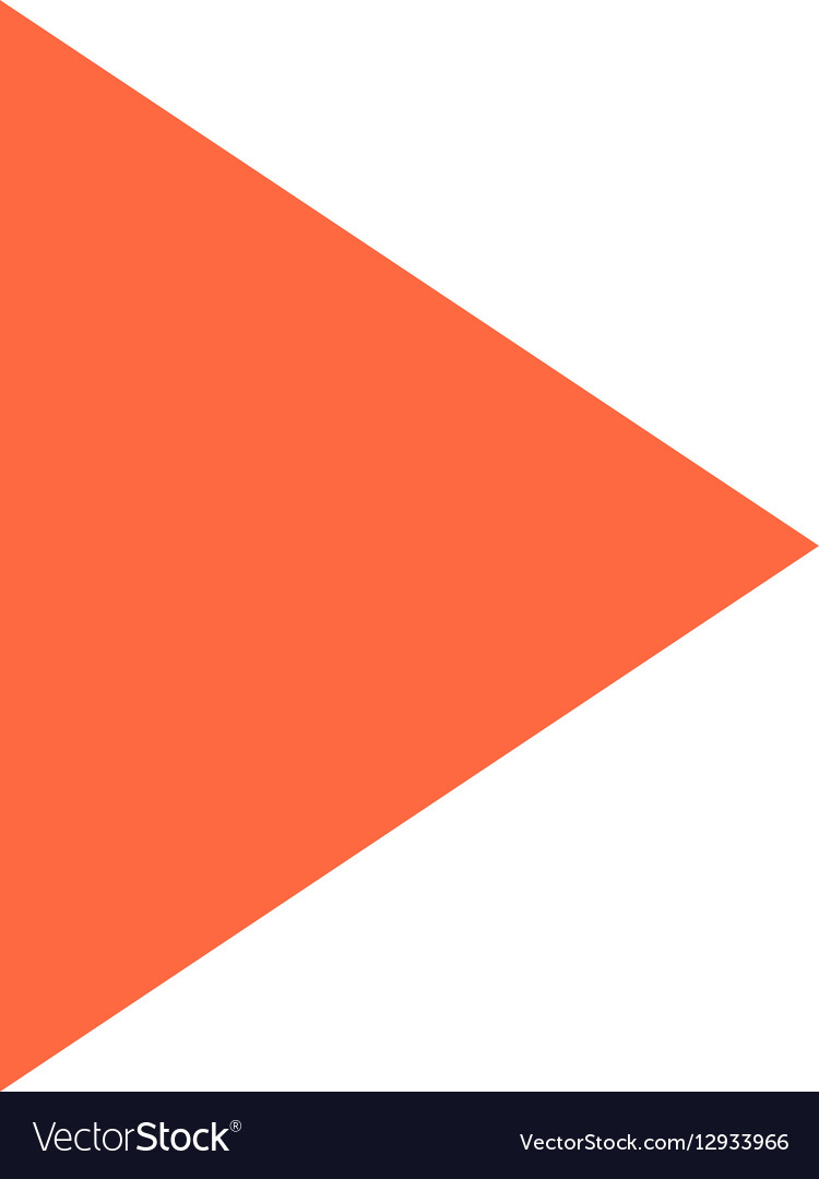 Arrow sign icon circle button play symbol vector image