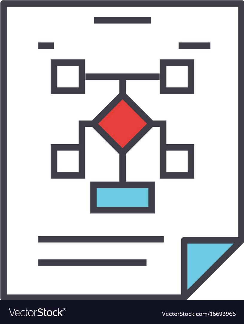 Business organization flow chart planning