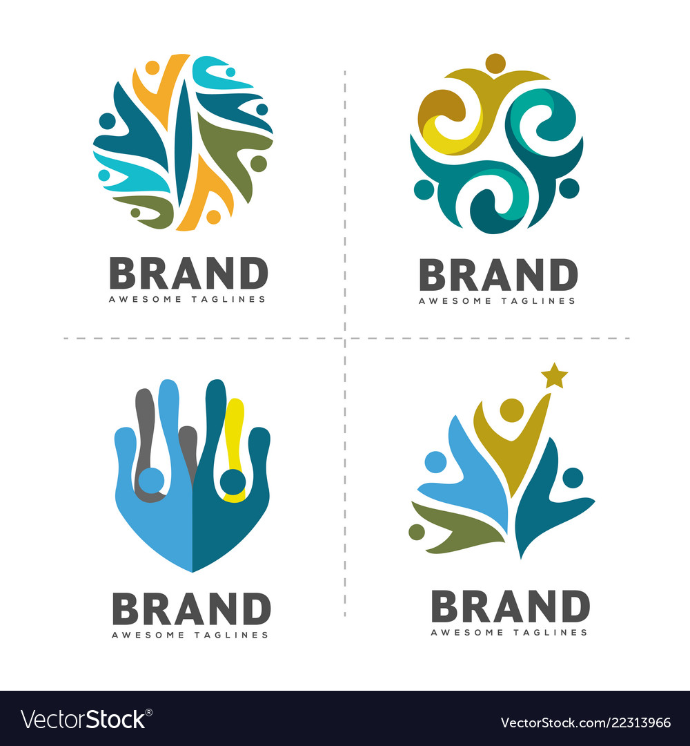 Community colorful logo template