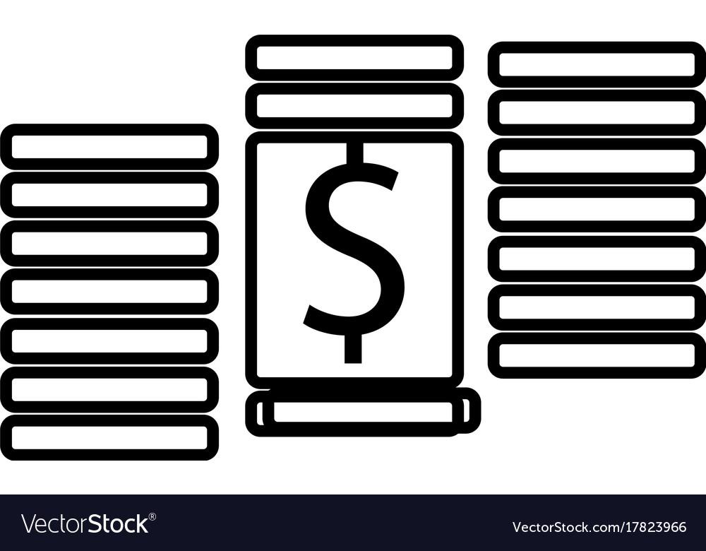 Dollar cent money icon
