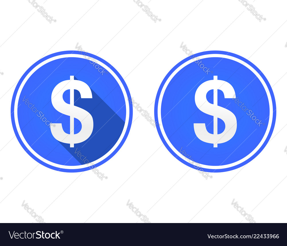 Dollar flat icon currency icon