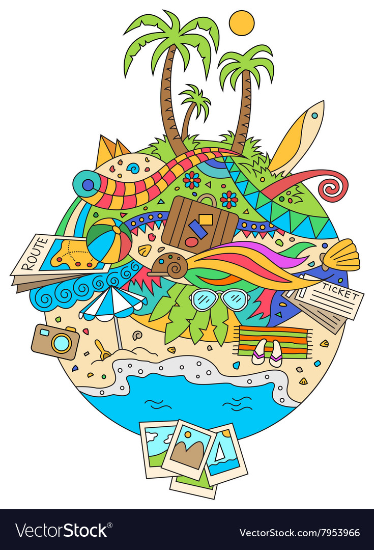 Doodle Summer Vacation