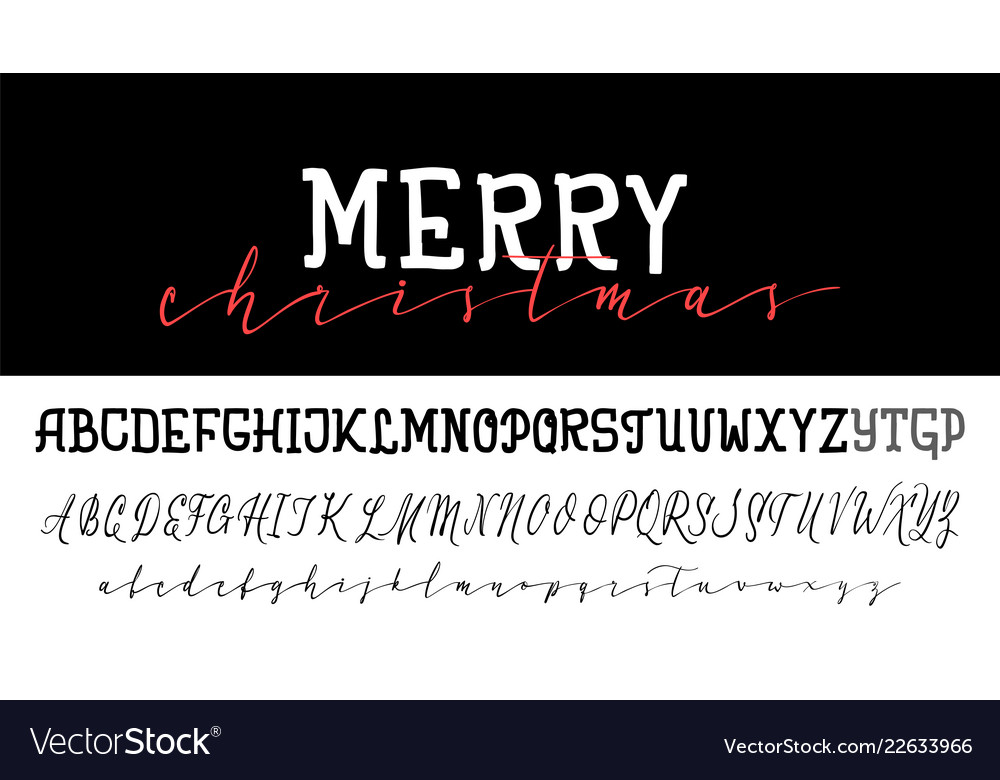Handwritten calligraphy elegant font and
