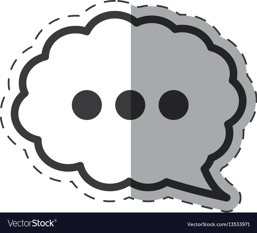 Cloud speech communication icon