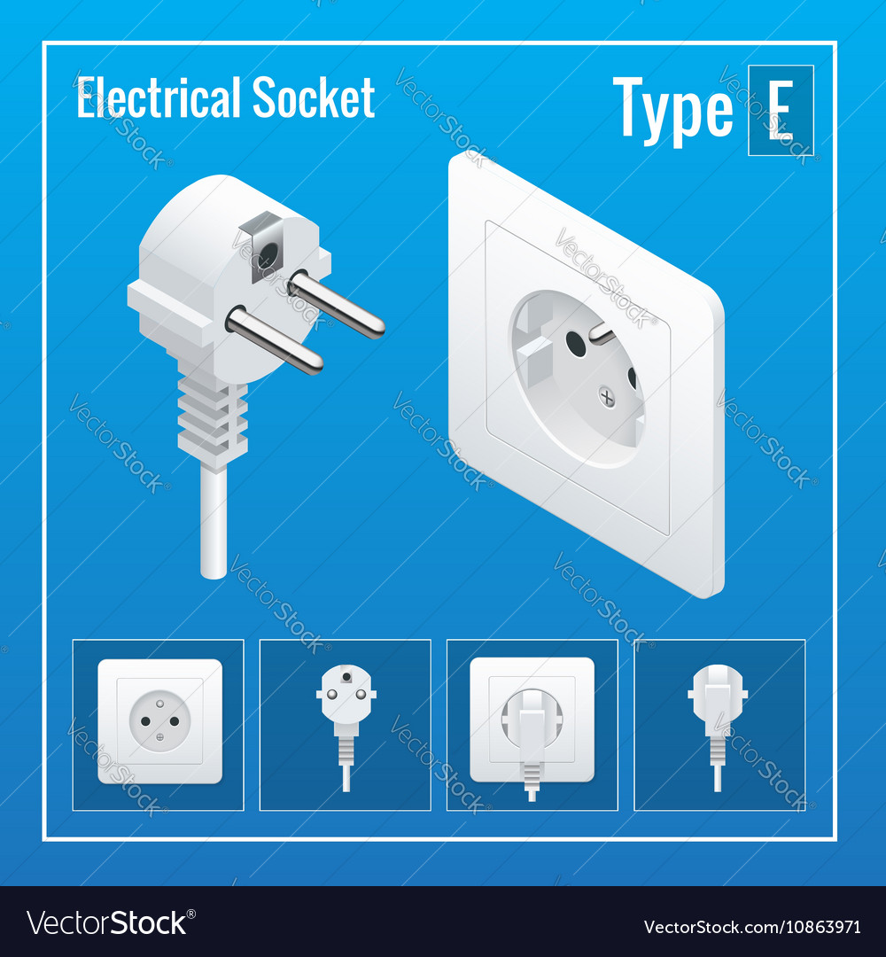 Isometric Switches and sockets set Type E