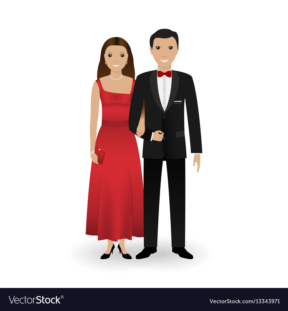 Male and female couple in elegant clothes