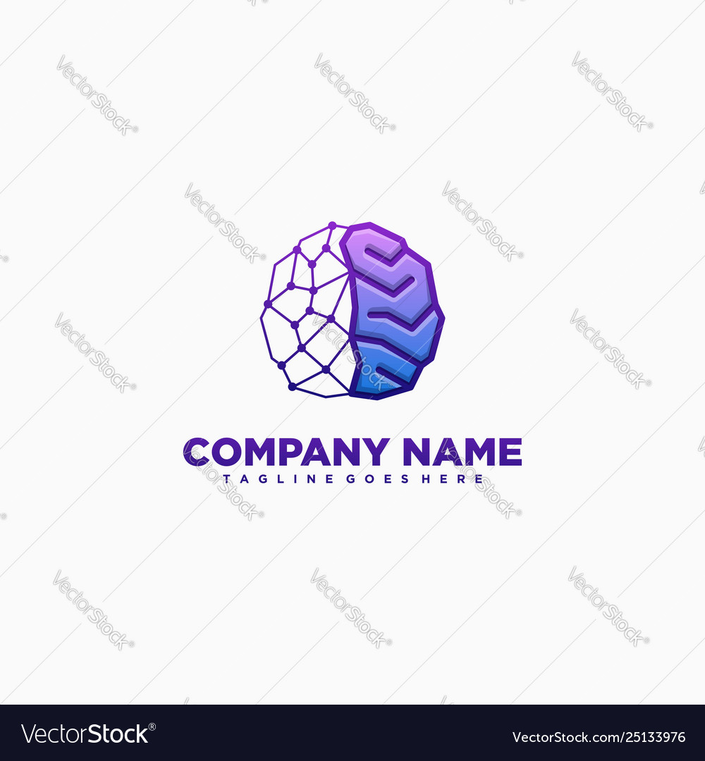 Abstract brain colorful template