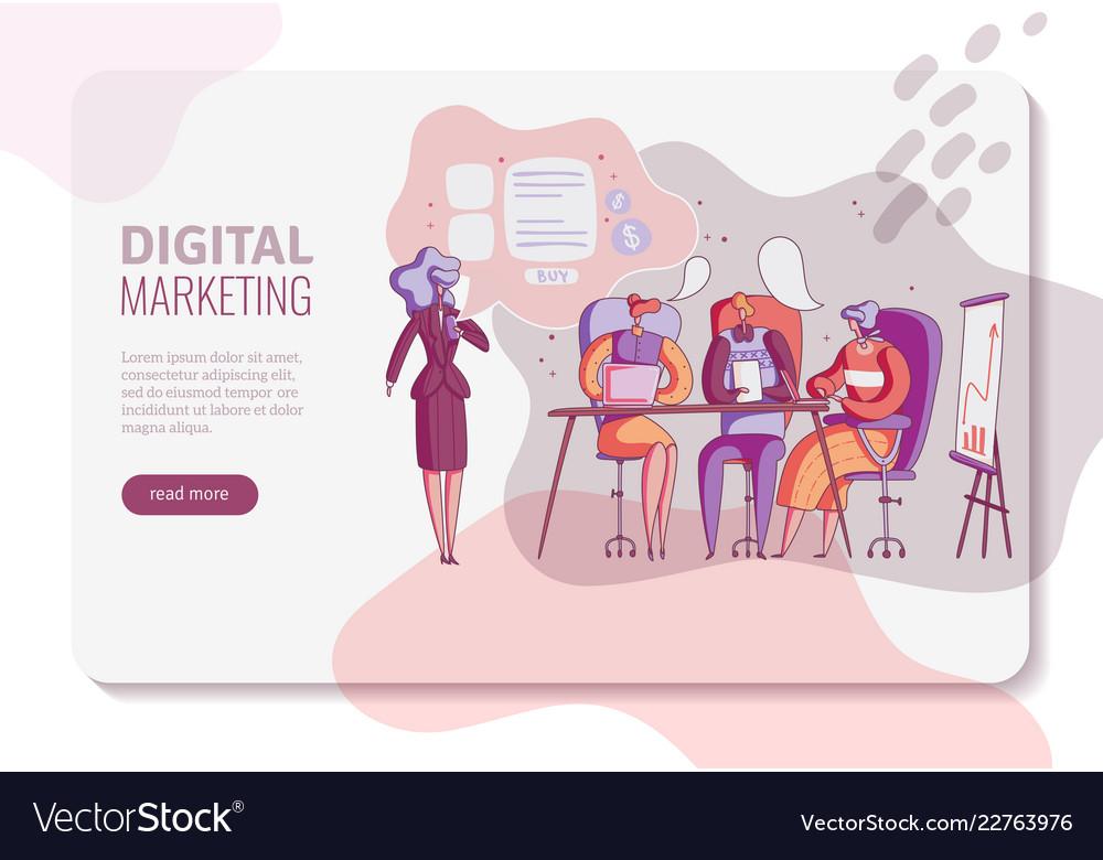 Digital marketing horizontal banner layout